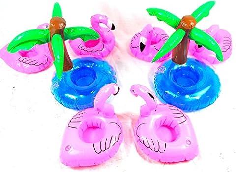 Flamingo gonflable Paumes Boisson 8 pcs.