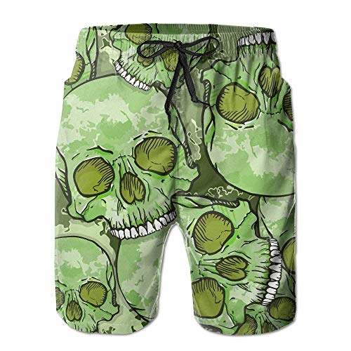 Fashion New Quick Dry Swimming Beach Shorts vaepinopes Camouflage Skull Pattern Men's Lightweight Beach Shorts Dry Fit Bathing Suit with Pockets,XL Under Armour-skull Wrap