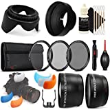 55mm UV CPL ND + Telephoto And Wide Angle Lens + Tulip Lens Hood + Flash Soft-Light Cover + Lens Pen + Dust Blower + 3pc Cleaning Kit