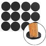 Protection pour meubles Bricolage Qiterr Pieds en Caoutchouc autoadhésifs de Meubles 12pcs Table idéale de Meubles et Outil antidérapant de Chaise