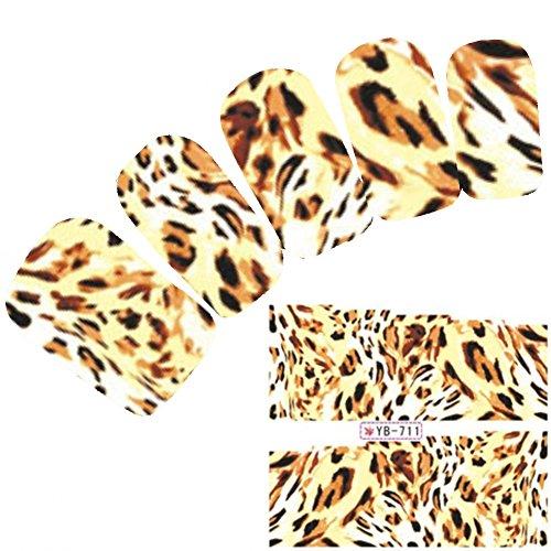 l Art Aufkleber Löwe Tiger Muster Lion Nagel Sticker (Lion Tattoo)