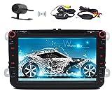 Doppel 2Din VW Auto DVD-Player foiioe 20,3cm Schrecken 6.0Auto Stereo-Radio GPS Navigation 1080P OEM Plugs Canbus für VW Skoda Seat (mit Wireless Kamera) Autoradio Bluetooth-Unterstützung