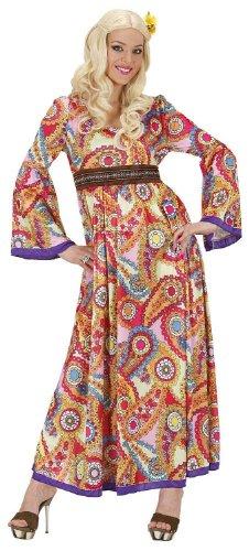 Widmann 76211 - Erwachsenenkostüm Hippie Frau, Größe S (60er 70er Jahre Halloween Kostüme)
