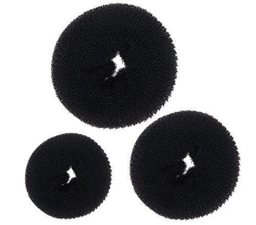 2er in Set Dutt Duttkissen Haarknoten Knotenrolle Haardutt Donut Knotenkissen Haarschmuck 5,5cm