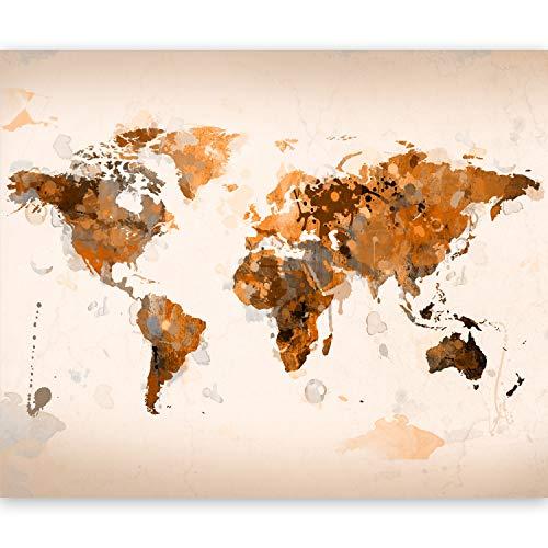 murando Papier peint intissé Décoration Murale XXL Poster Tableaux Muraux Tapisserie Photo Trompe l'oeil - 300x231 - carte du monde 10040910-78