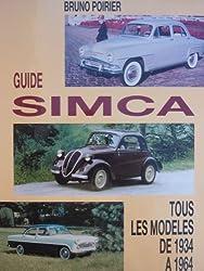 Guide Simca : Tous les modèles de 1934 à 1964