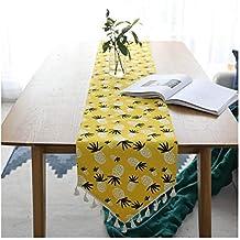 JUNYZZQ Bandera De Mesa De Algodón Y Lino Simple Moderna, Pequeña, Fresca, Japonesa