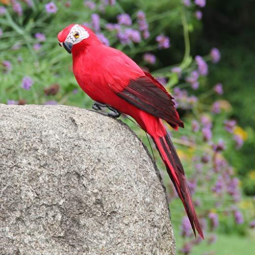 TianranRT Sprechendes Papageienspielzeug,Künstliche Gefälschte Bunte Papageien-Garten-Baum-Dekorations-Gartenarbeit-Dekoration,Mehrfarben -