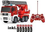 RC MAN Feuerwehr 27MHz ferngesteuert - Motorsound, Hupe, Licht INKL. BATTERIEN - komplett Set