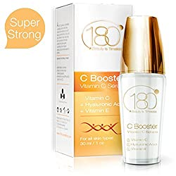 180 Cosmetics C Booster - Best Vitamin C Serum with Hyaluronic Acid and Vitamin E - For Beauty Skin Care and Best Anti Wrinkle Treatment - 30 ml - lack Friday Deals