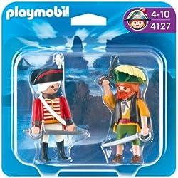 Playmobil - Pack de 2 figuras pirata y soldado (4127)