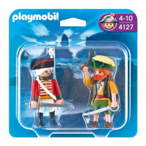 Playmobil - Pack 2 Figuras Pirata Soldado 4127
