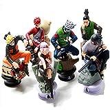 لعبة نموذج ساسوكي نينجا، شخصيات الأكشن المجسمة مثل قطع الشطرنج حجم 8 سم من مسلسل الأنمي ناروتو، 6 قطع في العبوة