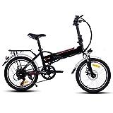 Befied 20inch Vélo de Montagne Électrique Pliante 7 Vitesse E-Bike VTT en Alliage d'aluminium Cadr Chargé 150kg, Chargeur Premium Suspendu, 36V 250W Moteur, 36V Batterie Lithium-ion