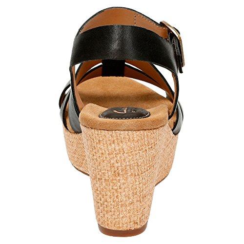 Clarks Caslynn Harp Strappy Sandal Black Leather