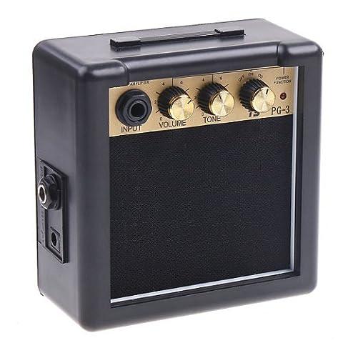 douself PG-3 3W guitare électrique Amp amplificateur du haut-parleur contrôle de tonalité pour les apprenants (12 Guitar Amp)