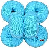 #2: M.G 100% Acrylic Wool Sky Blue (Pack of 12) Baby Soft Wool Ball Hand knitting wool / Art Craft soft fingering crochet hook yarn, needle knitting yarn thread dyed …