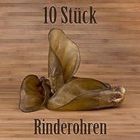 10pieza Jumbo Rinder Orejas con conchas–como schw eineo escuchar Rinder piel kausnacks kauartikel