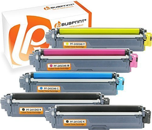 Bubprint 5 Toner kompatibel für Brother TN-242 TN-246 HL-3142CW MFC-9142CDN MFC-9332CDW DCP-9022CDW HL-3172CDW MFC-9342CDW HL-3152CDW DCP-9017CDWG1