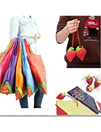 EasyBuy India Black : Thicken Eco Storage Handbag Foldable Strawberry Shopping Bag Tote Reusable Supermarket Storage...