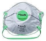 KWB 3793-10 Máscara, válvula expiración, Especial Polvo, Humo de soldar y Aceite, Blanco, Talla única