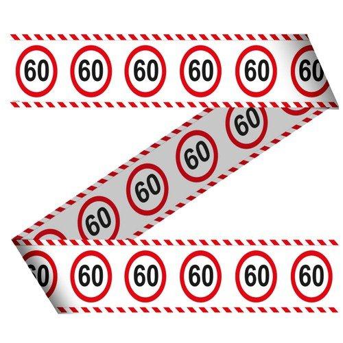 rtstag Jubiläum Warnband Verkehrsschild 15m Dekorationsidee (60 Geburtstag Thema)