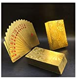 Gift Gold Foil Plated Normal Playing Cards Poker Happy Special Unusual Birthday Poker With Golden Box Present For Wedding Party B