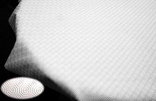 Teknigomme Unter Tischdecke, PVC weiß-Schützt Tisch (Oval 1,40x 1,80m) -