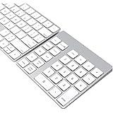 Cateck Clavier et pavé numérique Bluetooth sans fil à 28 touches rechargeable pour iMac, MacBook Air, MacBook Pro, MacBook et Mac Mini