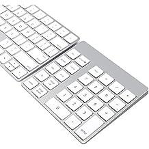Teclado y Teclado Numérico Inalámbrico Bluetooth Recargable en Aluminio de 28 teclas Cateck para iMac, MacBook Air, MacBook Pro, MacBook, y Mac Mini