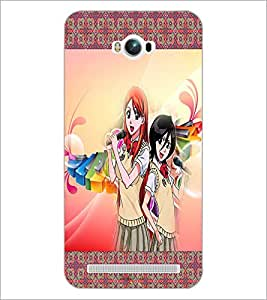 PrintDhaba Singing Girls D-2486 Back Case Cover for ASUS ZENFONE MAX ZC550KL (2016) (Multi-Coloured)
