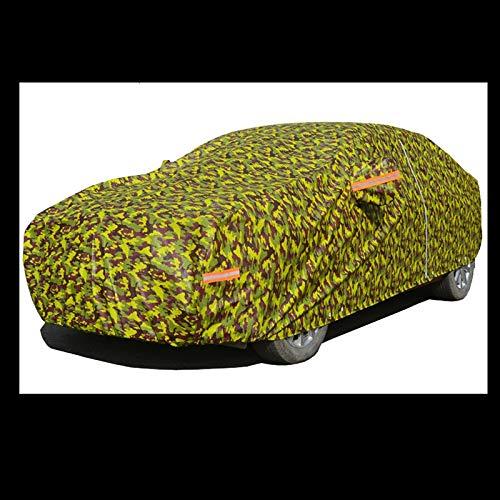 ZXCMNB Car Cover Staubschutz wasserdichte Sonnencreme Doppel Nadel Reflektierende Streifen Vier Jahreszeiten Universal Auto Kleidung Mantel Sonnenschirm Camouflage Jacke (Color : C, Size : XL) -
