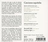 Canciones Espanolas : Oeuvres De Falla, Granados & Rodrigo