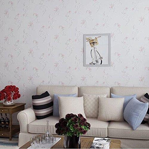 ... Tapezieren,, Loaest Koreanische 3D Tapeten Rollen Pastorale Romantisch  Rosa Blume 3D Wand Papier Für Wohnzimmer TV ...