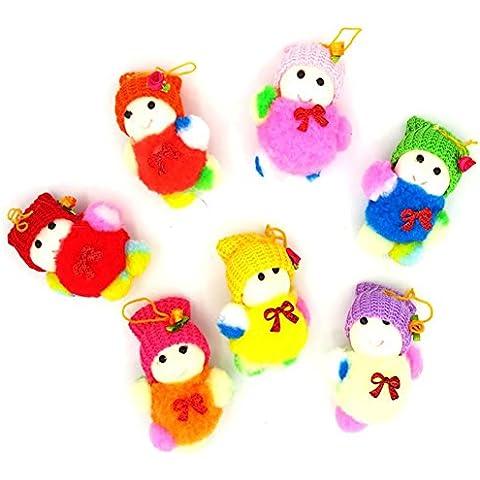 YUYU Ornamentos del árbol de Navidad muñeco de nieve muñecos de color decoraciones regalos (7)