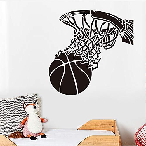Basketball Schießen In Basketballkorb Wandaufkleber Sport Home Decor Vinyl Abnehmbare Diy Wandtattoos Für Jungen Zimmer 59X59 Cm