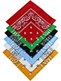 Harrys-Collection Bandana Bindetuch 100% Baumwolle 1 er 6 er oder 12 er Pack!, Farbe:Sortiment 1