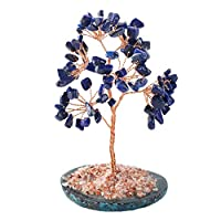 Almabner Money Tree Craft Good Luck Decorative Natural Crystal Mini Fortune Money Tree Home Office