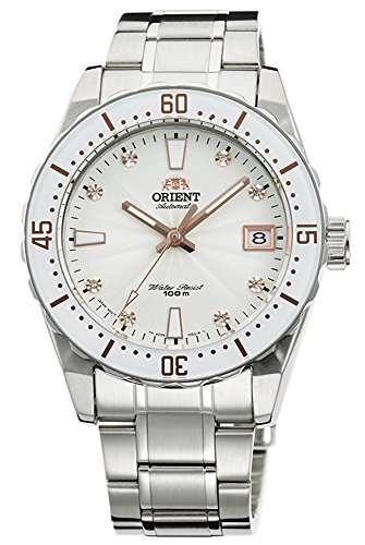 ORIENT Automatic Sports 100M Superior Ladies Watch White Guilloche Dial Steel FAC0A002W