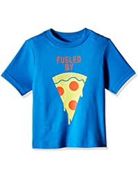 The Children's Place Boys' Short Sleeve 'Fueled By Pizza' Graphic T-Shirt