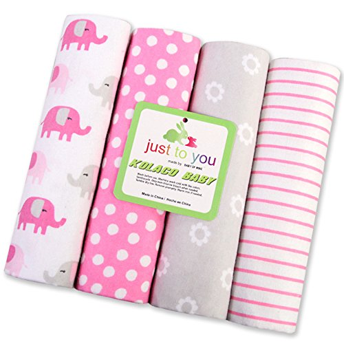 Preisvergleich Produktbild Harson&Jane premium - qualität, 100% baumwolle, weich und kuschelig fingerabdrücke baby decken (4 - er packung × 30 zentimeter. (76×76 cm, 04)