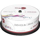 PRIMEON DVD+R DL 8.5GB/240Min/8x Cakebox (25 schijfjes), foto on-disc surface, Inkjet Fullsize Printable