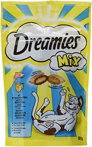 Dreamies Katzensnacks/Klassiker Mix, mit Lachs und Käse, 6 Beutel (6 x 60 g)
