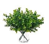 Kunstpflanzen Eukalyptus (4er-Pack) - künstlicher Eukalyptus (33cm) mit 4 Zweigen und Kunst Eukalyptus Blättern - Eukalyptus Pflanze Deko für Zuhause, Büro, Schlafzimmer, Küche und Wohnzimmer