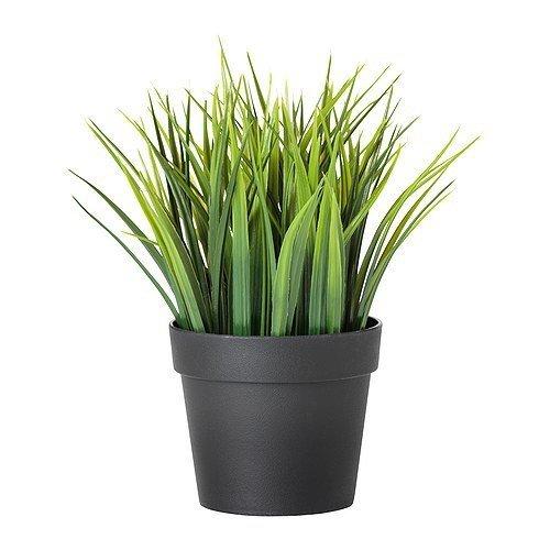 Ikea IKE-004.339.42 FEJKA künstliche Topfpflanze Gras (Gras Schreibtisch)
