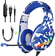 Gaming Headset PS4 Headset, Xbox One Headset with Noise Canceling Gaming Headphones Stereo Sound Headphones wi