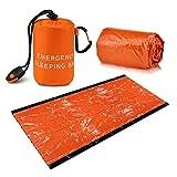Emergency Sleeping Bag, Lightweight Waterproof Thermal Emergency Blanket Survival Gear, Bivy Sack
