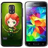For Samsung Galaxy S5 Mini, SM-G800 - Peter Pan Link Fairytale Redhead Dise???¡Ào Protecci????n Cubierta de la caja ultra delgada de Snap de pl????stico duroco duro - God Garden