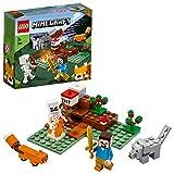 LEGO Minecraft - L' Avventura nella Taiga, con i Personaggi Minecraft di Steve, dello Scheletro, del Lupo e della Volpe, Set di Costruzioni per Bambini +7 anni, Appassionati e Collezionisti, 21162