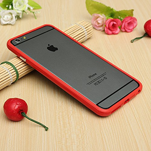 Best Style Iphone 6 Plus Silicon Bumper Red by G4GADGET®